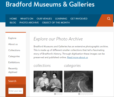 Bradford Museums using iBase Image Management System