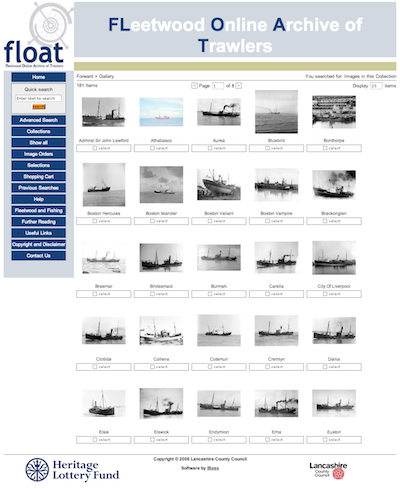 FLOAT Lancashire using iBase Digital Image Database System