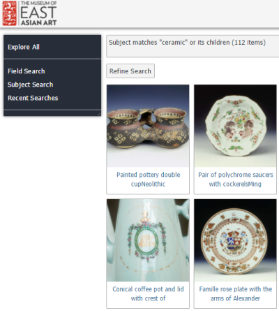 Museum of east Asian Art Digital Asset Management and Online  Image Library