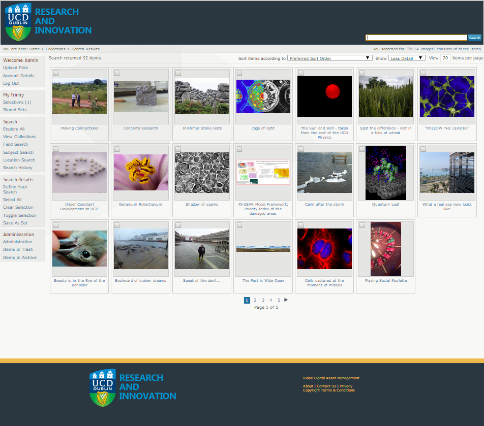 University College Dublin using iBase Digital Asset Management Software