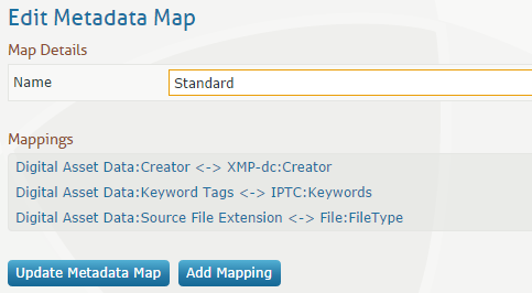 Metadata mapping